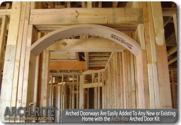 Arched doorways l easily added to any new or existing home